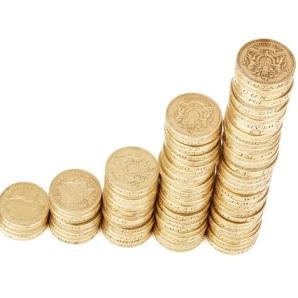 Dinero monedas pequeña