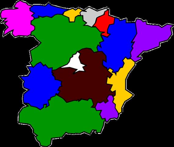 España mapa canal agencial