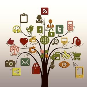redes sociales pequeña